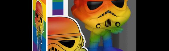 Funko Pop : Un stormtrooper et BB-8 aux couleurs de l'arc-en-ciel