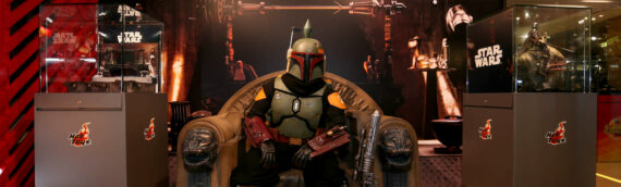 """HOT TOYS – Boba Fett on Throne LIFE-SIZE pour le """"Summer Show Case"""""""