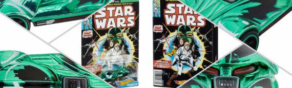 "HOTWHEELS – Star Wars ""Comics"" Green DARTH VADER exclu SDCC 2021"
