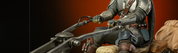 Iron Studios : The Mandalorian on Speederbike Deluxe en précommande