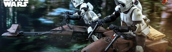 HOT TOYS – Scout Trooper and Speeder Bike Sixth Scale Figure