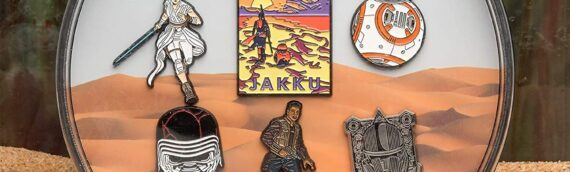 "Amazon – Across the galaxy : Un coffret exclusif de 6 pin's ""Jakku"""