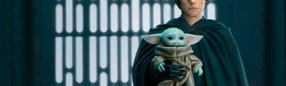 Iron Studios – Luke Skywalker, R2-D2 & Grogu Quarter Scale Figure