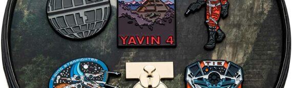 Amazon – Across the galaxy : Un nouveau set de 6 pin's qui nous renvoie sur Yavin 4