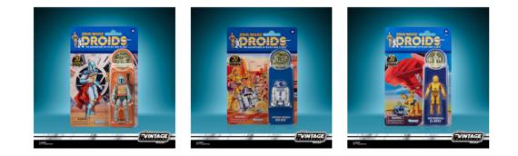 HASBRO – The Vintage Collection Droids Boba Fett, R2-D2 et C-3PO