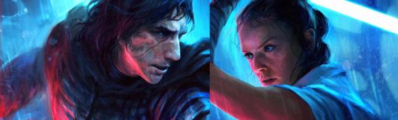 Sideshow Collectibles – 'The Duel' Art Prints Rey & Kylo Ren par Richard Luong